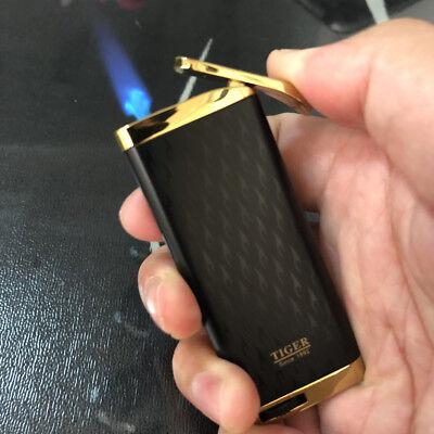 Butane Jet Flame Cigar - Tiger Jet Torch Flame ultra-thin Butane Windproof Cigar Cigarette Lighter B&G