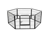 Large 6 Panel Dog Playpen Pet Exercise Pen Pets Puppy Rabbits Play Cage Outdoor 80x60cm