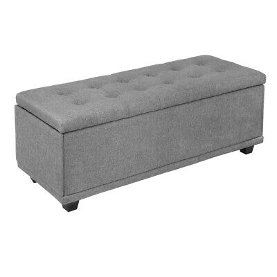 """Homegear 47"""" Large Fabric Ottoman Storage Bench / Chest / Fo"""
