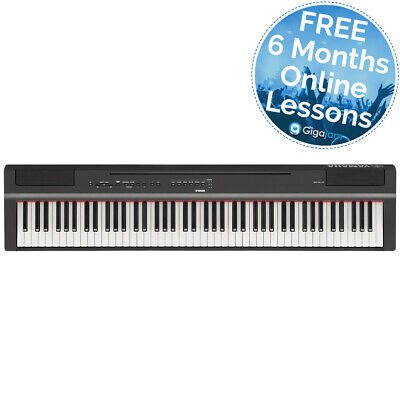 Yamaha P-125 88 Key Digital Piano - Black with 6 Months Free Online Lessons