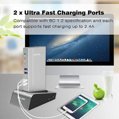 USB3.0 Aluminum Universal Docking Station,DualVideo Docks,HDD&SSD Enclosure Base