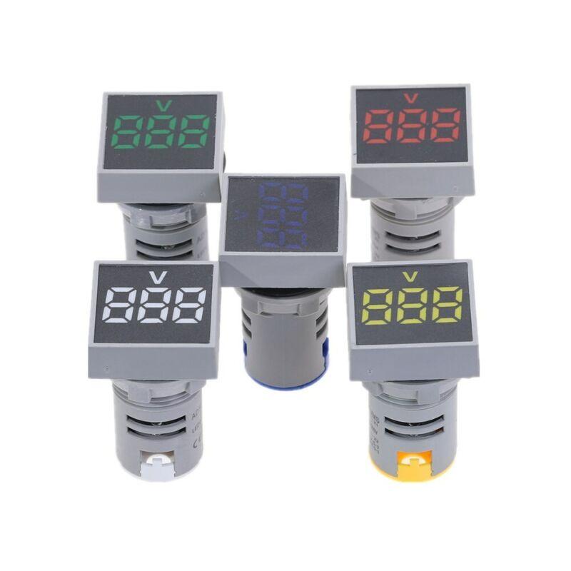 22MM AC12-500V Voltmeter Square Panel LED Digital Voltage Meter Indicator Light