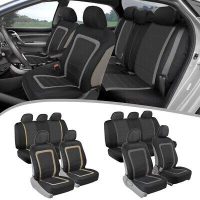 Car Seat Covers Front & Rear Full Set Sideless Armrest Compatible Design ()