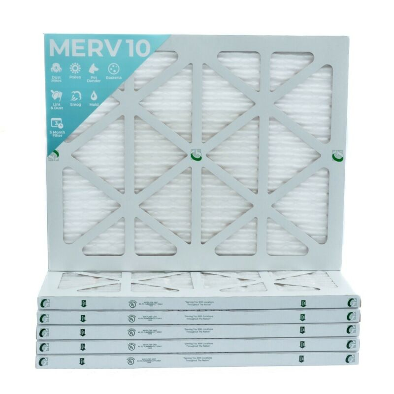 14x20x1 MERV 10 Pleated Air Filters. 12 PACK. Actual Size: 13-1/2 x 19-1/2 x 7/8