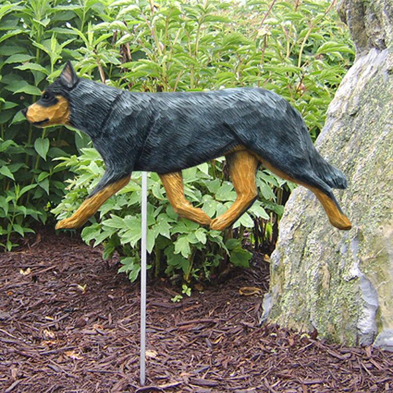 Australian Cattle Dog Outdoor Garden Sign Hand Painted Figure Blue