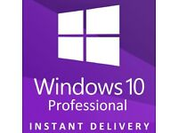 Microsoft Windows 10 Professional - 32 & 64 Bit - Activation Code - License Key - Product Key