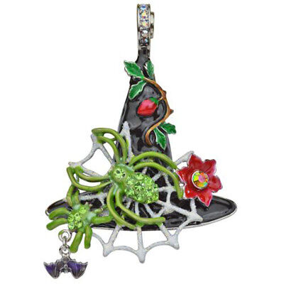 KIRKS FOLLY  HALLOWEEN SPIDER QUEEN WITCH HAT MAGNETIC ENHANCER silvertone