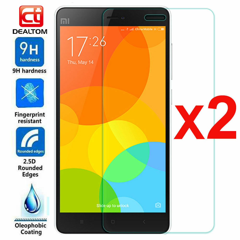 2Pcs 9H+ Real Tempered Glass Film Screen Protector Cover For XiaoMi Redmi Phone