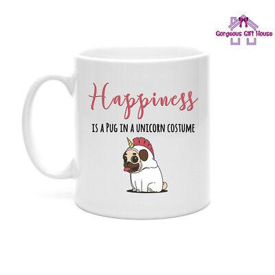 Pug In A Unicorn Costume Mug, Funny Mug, Joke Present, Dog Lover Gift - Dog In A Costume