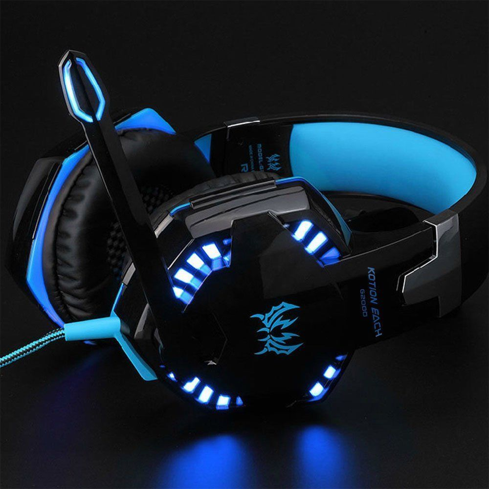 3.5mm Gaming Headset Mic LED Headphones Stereo Surround for PC PS4 Xbox ONE 360E
