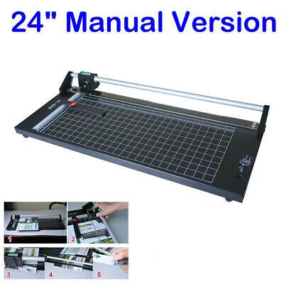 24 Manual Precision Rotary Paper Trimmer Sharp Photo Paper Cutter Machine New