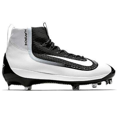 superior quality 5dc38 cbf5c Mens Nike Air Huarache 2K Filth Mid Metal Baseball Cleats 2KFilth BLACK  WHITE 8