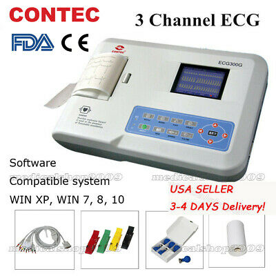 Us Sellerdigital 3 -channel 12-lead Ecgekg Machine Electrocardiographfda