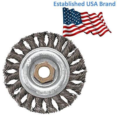 Pearl Abrasive Power Wire Brush Clwbk458t Knot Wheel 4 X .020 X 58-11