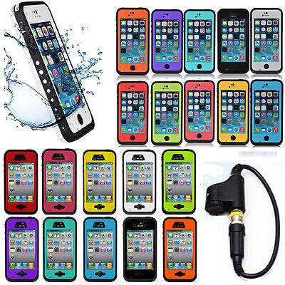 Waterproof Shockproof Fingerprint Scanner Case Cover for Apple Iphone 4 4S 5C 5S