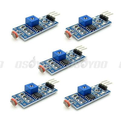 5pcs Photoresistor Sensor Module Light Detection Digital Switch Mete For Arduino