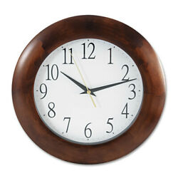 Universal One 10414 12-3/4 in. Round Wooden Wall Clock, Cherry Wood New