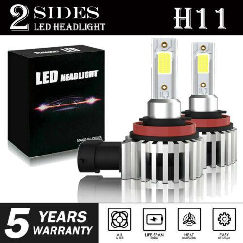 2pcs H7 LED Headlight Bulb Conversion Kit High Low Beam Fog Lamp 6000K White HID