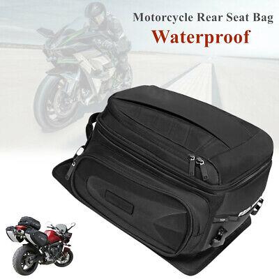 Motorcycle Rear Rack Seat Bag Waterproof Travel Luggage Shoes Helmet Tail Case