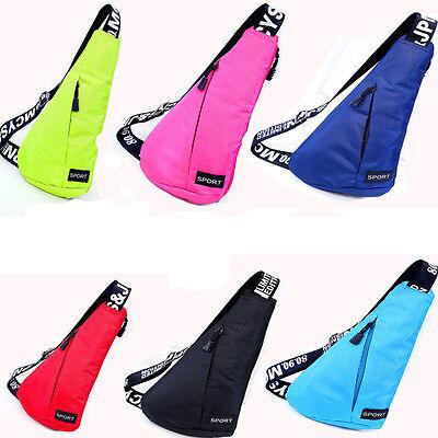New Outdoor Sports Canvas Unbalance Backpack Crossbody Shoulder Bag Chest Bag