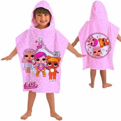 LOL Kinder Poncho Bademantel Strandtuch l.o.l. Surprise Mädchen Badekleidung NEU