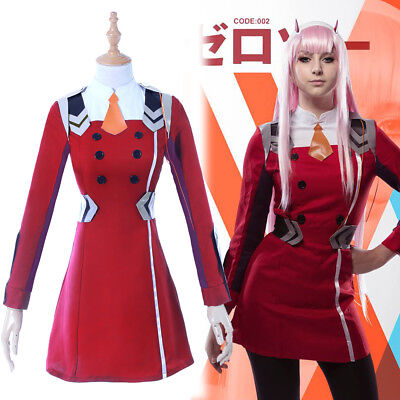 Darling in the Franxx ZERO TWO CODE:002 Cosplay Costume Complete Outfit Uniform](Zero Costumes)