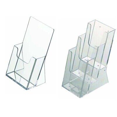 1-, 3-Fach-Prospektständer, Prospekthalter, Flyer-Ständer, DIN lang, A4, A5