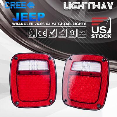 LED Tail Lights Rear Lamps Reverse Brake Turn Signal Jeep Wrangler TJ CJ 76-06