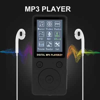 "1.8"" LCD Display MP4 Player HiFi Bass Musik SD FM Radio TF Headset 32GB Speicher"