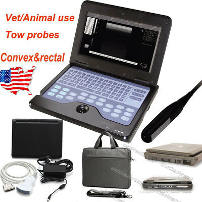 Us Portable Ultrasound Scanner Veterinary Pregnancy With Rectalconvex Probefda