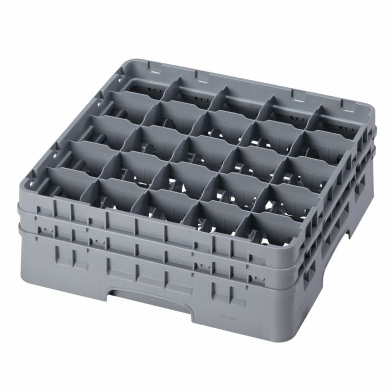 Cambro 25S434151 Camrack Soft Gray 25 Compartment Glass Rack