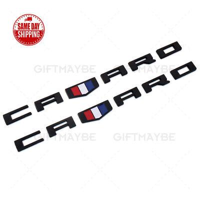 2x For Chevrolet CAMARO 3D Car Letter Fender Marker Emblem Badge RS SS ZL1 Z28