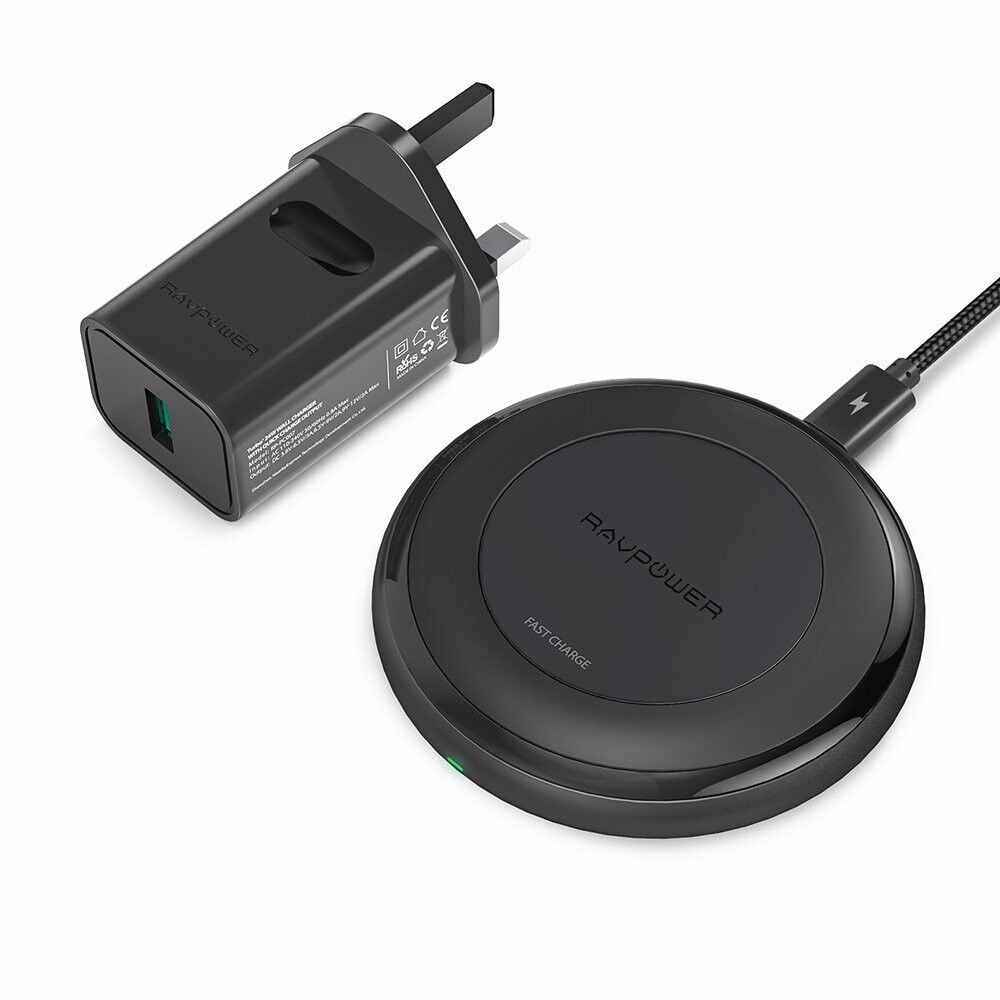 ravpower fast wireless charger for iphone 8 8plus 7 5w. Black Bedroom Furniture Sets. Home Design Ideas