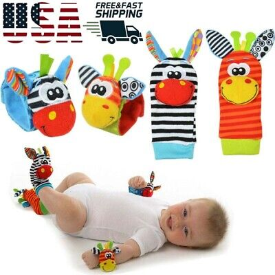 Lamaze Rattle Baby Sensory Toys Foot-finder Socks Wrist Rattles Bracelet For Kid