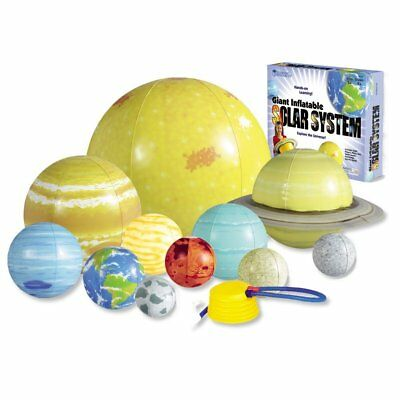 Inflatable Solar System Set Planets Foot Pump Kids Learning Hanging Party Decor