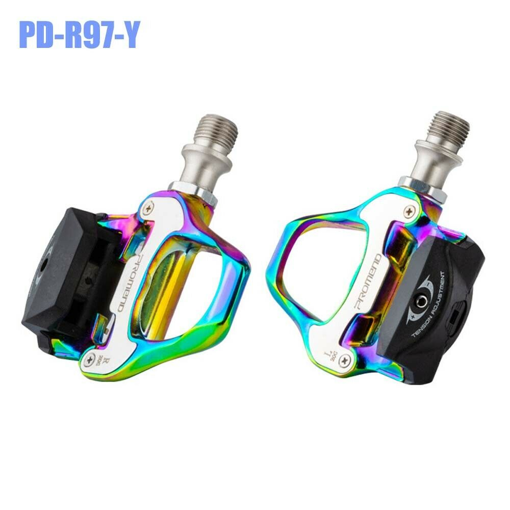 PROMEND PD-R97-Y SPD Clipless Pedals w/ Cleats for Road Bike City Touring Bicycle Components & Parts