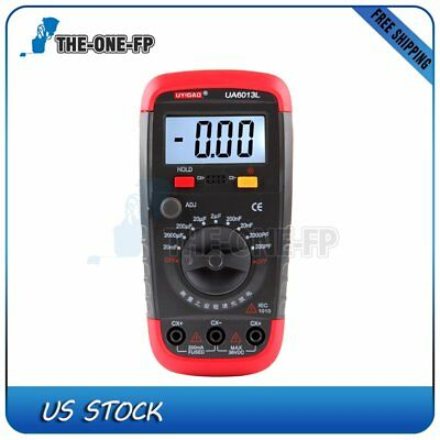 Ua6013l Digital Capacitor Capacitance Meter Tester Data Hold W Test Clip H2t6