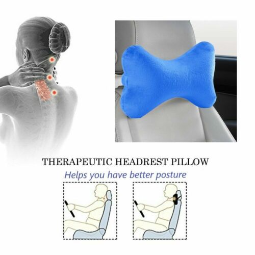Bone Shape Car Neck Pillow Memory Foam Head Rest Support Driving Travel Office Travel