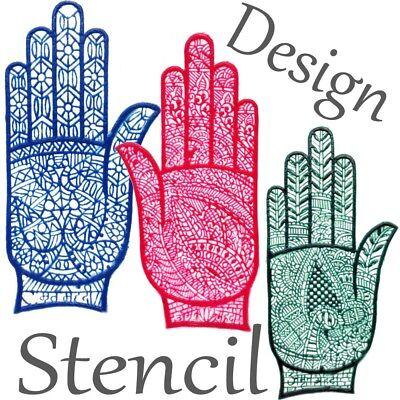 Henna Schablone für Kinder (Mehrfachverwendbar) für Zeichnungen auf die Hände ()