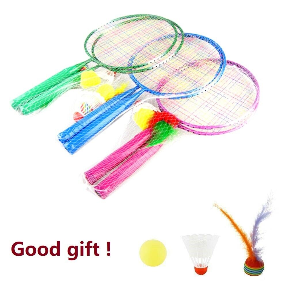 1 Pair Sport Badminton Rackets Sports Cartoon Suit Toys For