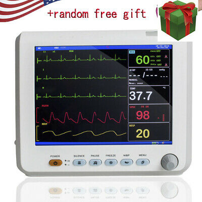 Lcd Color Vital Signs Patient Monitor Cardiac Monitor Ecg Nibp Resp Pr Spo2 Temp