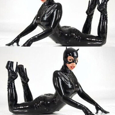 Lingerie Halloween Catwoman Cosplay Club Party Faux Leather Costume Jumpsuit ](Halloween Catwoman Suit)