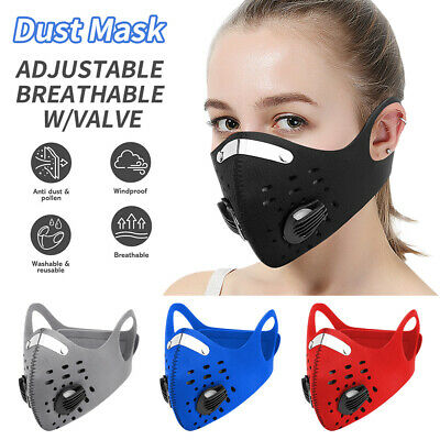 Reusable Face Mask Air Purifying Mouth Cover PM2.5 filter face mask