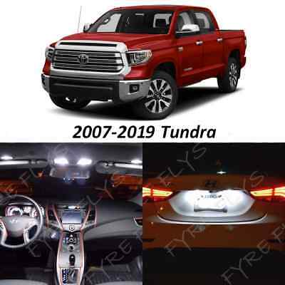 19 White LED Interior Lights Package Kit 2007-2018 2019 Toyota Tundra +Tool TT4W