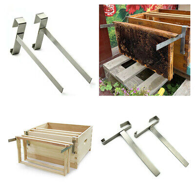 2pcs Frame Holder Home Space Saving Bee Hive Durable Perch Beekeeping Tools Diy