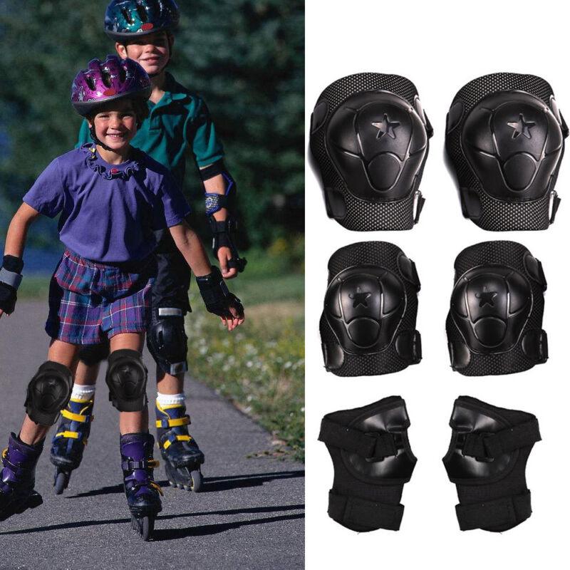 Kinder Protektoren Set Schützer Schoner 6-teilig Inliner Skateboard M Skater