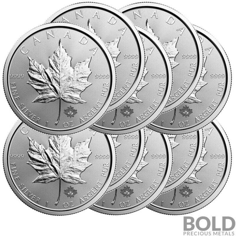 2019 Silver 1 oz Canada Maple Leaf (10 Coins)