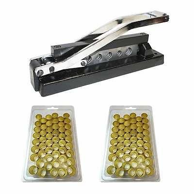 Heavy Duty Bench Hose Ferrule Crimper Crimping Tool 5 Dies W 50 Ferrules H8-kit