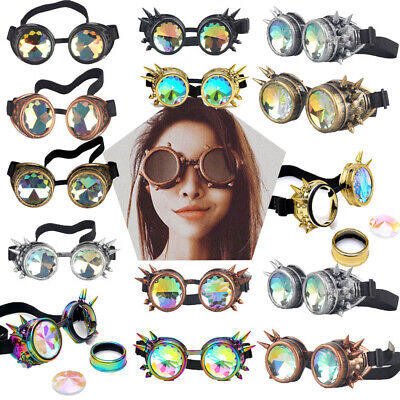 Cyber Goggles Steampunk Glasses Vintage Retro Round Halloween Punk Party Fun (Cyber Glasses)