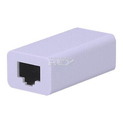 Adaptador Prolongador Cables RJ45 de Red Ethernet Hembra - Hembra Blanco v474